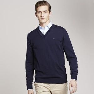 POLO PULL LACOSTE HOMME BLEU MARINE
