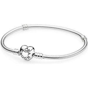 BRACELET - GOURMETTE Bracelet Moments en Argent 925/1000e, Fermoir Cœur
