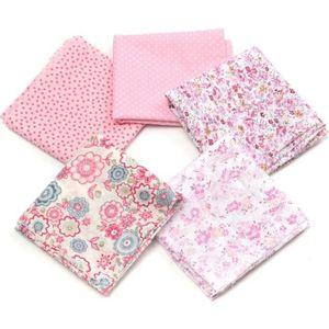 TISSU T4W 5Pcs DIY Coupons Tissu de Coton 50x50cm Rose