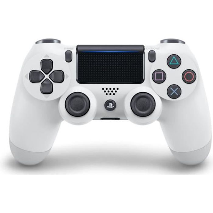 Photo de manette-ps4-dualshock-4-0-v2-blanche-glacier-white