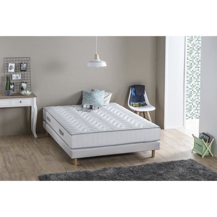 Ensemble Best Night matelas + sommier 160 x 200 - Confort ferme...