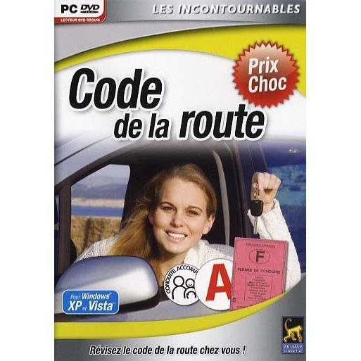 code de la route logiciel pc dvd rom prix pas cher cdiscount. Black Bedroom Furniture Sets. Home Design Ideas