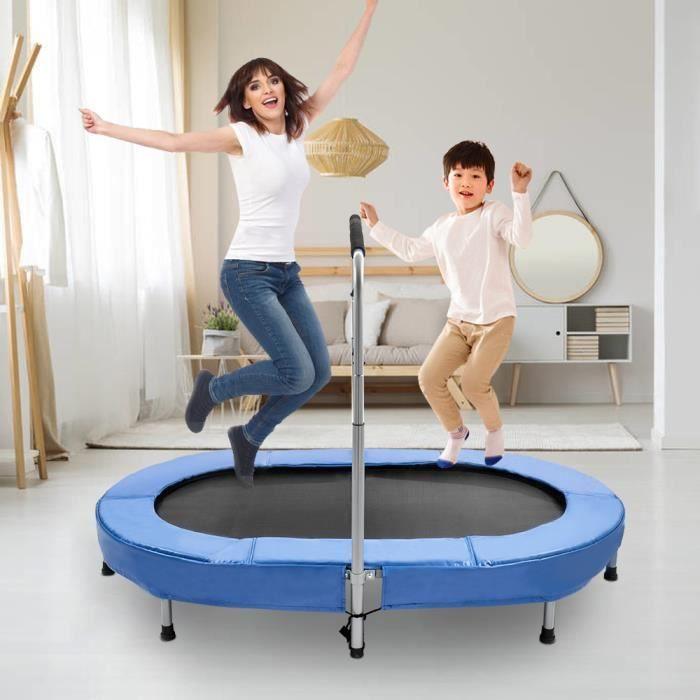 Trampoline Fitness pour Adulte et Enfant avec Poignée Réglable Maximale 100 Kg pour Une Utilisation en Extérieur et en Intérieur