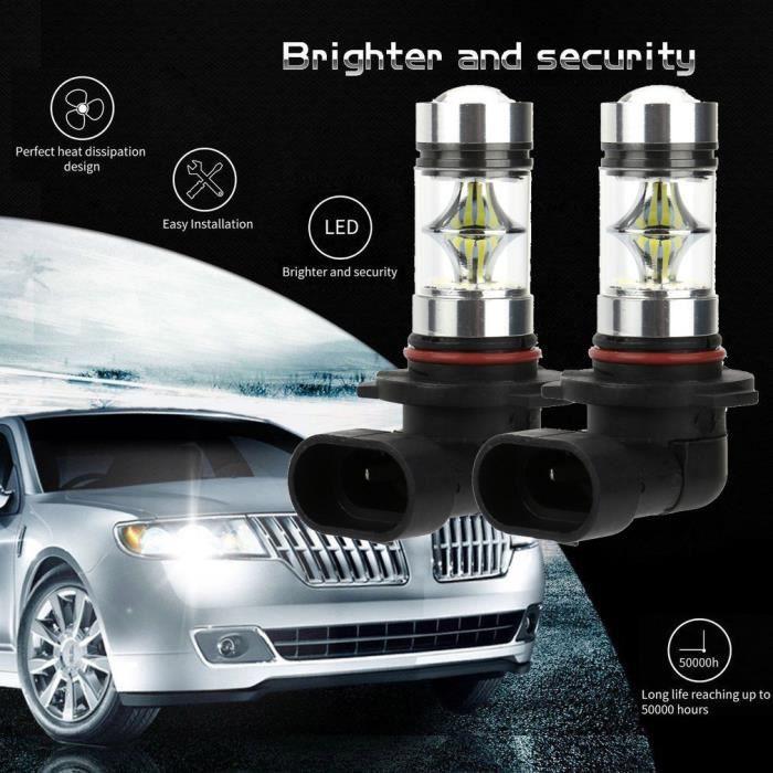 NOUVELLES 2x 100W 9006 HB4 ampoules de feux de brouillard ultra-puissants à LED haute puissance 6000K LLZ71119725_dragonly
