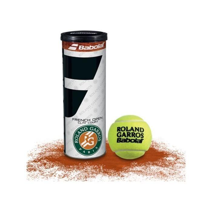 Tube de 3 balles BABOLAT French Open Clay Roland Garros