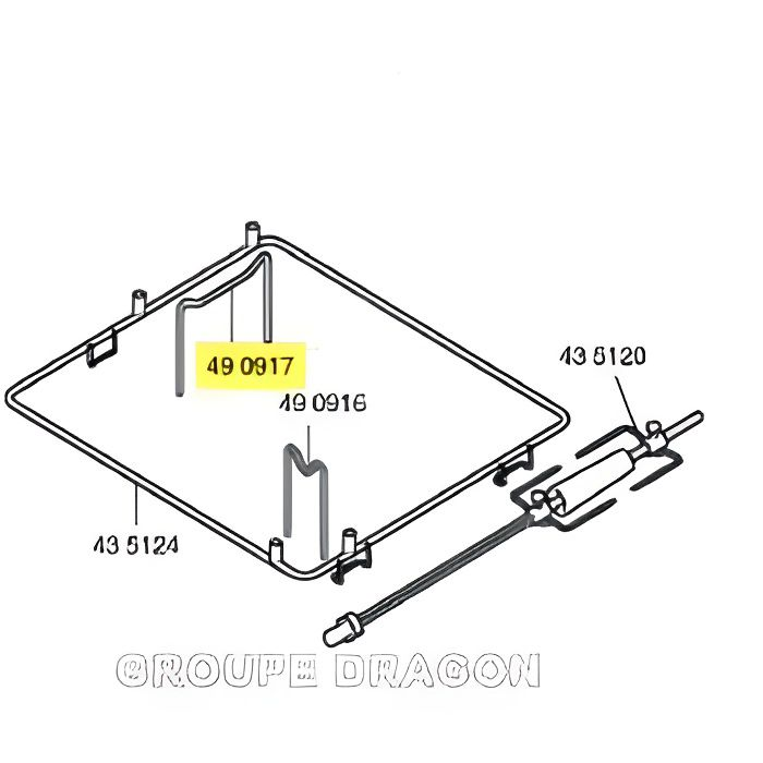 SUPPORT pour four BOSCH B/S/H 490917 HB760550…