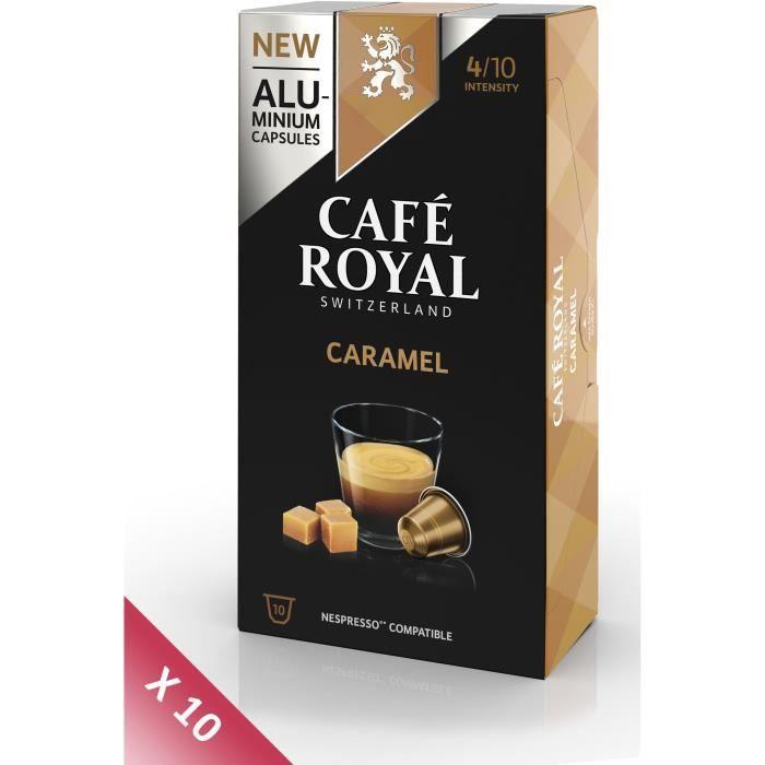 Lot de 10 CAFE ROYAL compatible Nespresso Alu Caramel x10