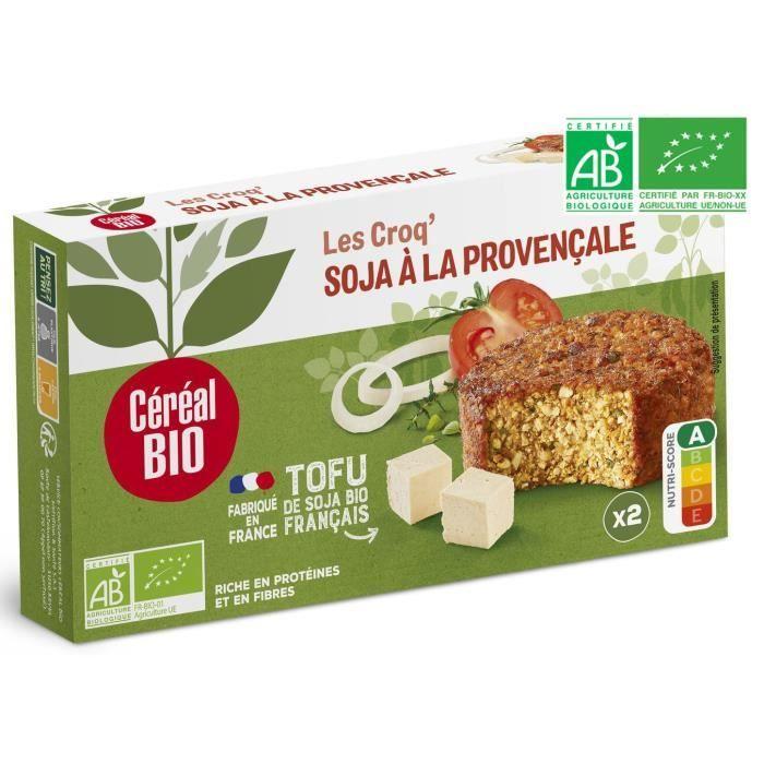 CEREAL BIO Croq'soja Provençale spécialité végétale à base de tofu Bio - 200 g