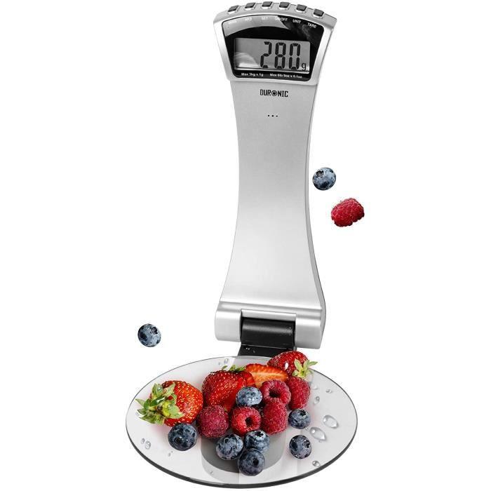 Duronic KS4000 Balance de cuisine murale et plateau en verre - 3 kg