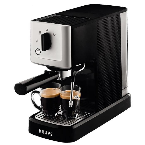 Machine à Expresso manuelle - KRUPS Calvi XP344010 - Noir - Simple pompe - Buse vapeur - Pression 15 bars