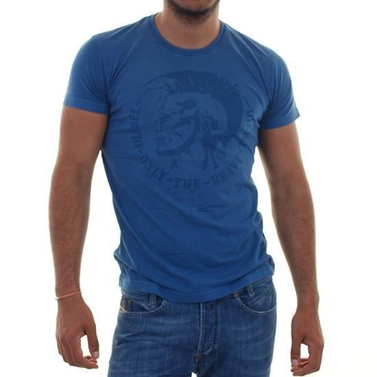 Diesel - T-shirt ACHEL Bleu