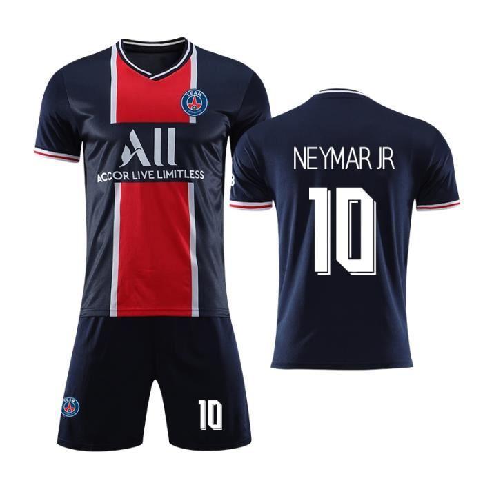 Nouveau PSG Maillot de Foot Short Football Soccer NO.10 Neymar JR 2020 2021 Pas Cher pour Adulte Homme Enfant