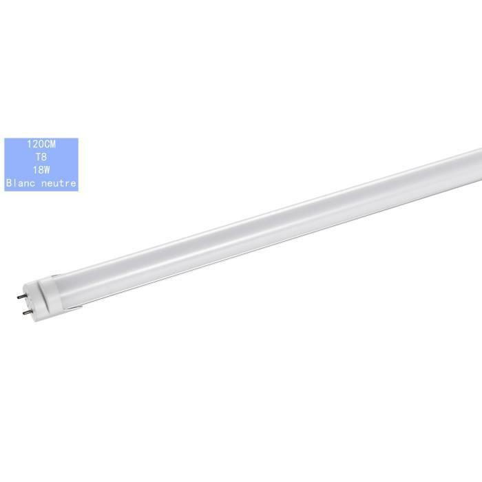 tube LED T8 120cm 18W 1600K Température de couleur : Blanc neutre