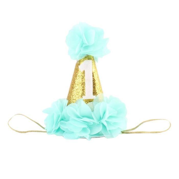 P149♥1 Pcs Enfants Elastique Couronne Bandeau Cheveux Dentelle en Dentelle Headband Extensible Humidité Hairband Twisted
