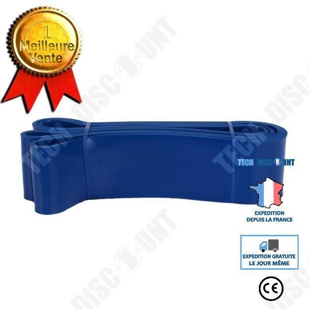 TD® Bande Élastique de Cross-fit -Harnais de résistance- Bande de latex Body gym Extenseur- Entraînement fitness Multifonction Bleue