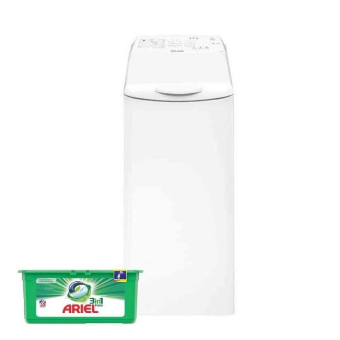 VEDETTE Lave-linge top 6kg 1200trs/min 17 Programmes Machine à laver 60 Blanc