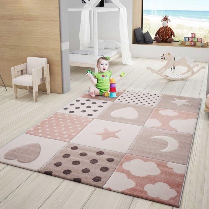 Tapis jeux enfant rose [120x170 cm]