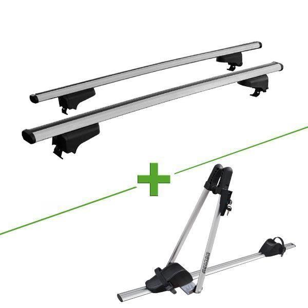 Pack barres et porte vélo WABB Rail + Asso pour Ford Escort Break V 5 portes - 3665597051650