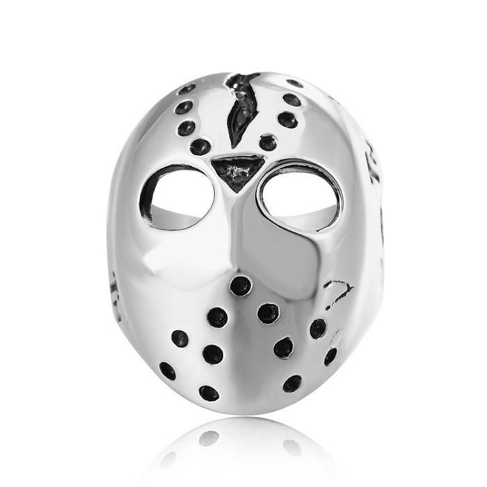 Bague L'Europe et l'Amérique Style Punk gothique Masque Crâne Hommes Titanium Steel Ring, US Taille: 8, Diamètre: 18.2mm,
