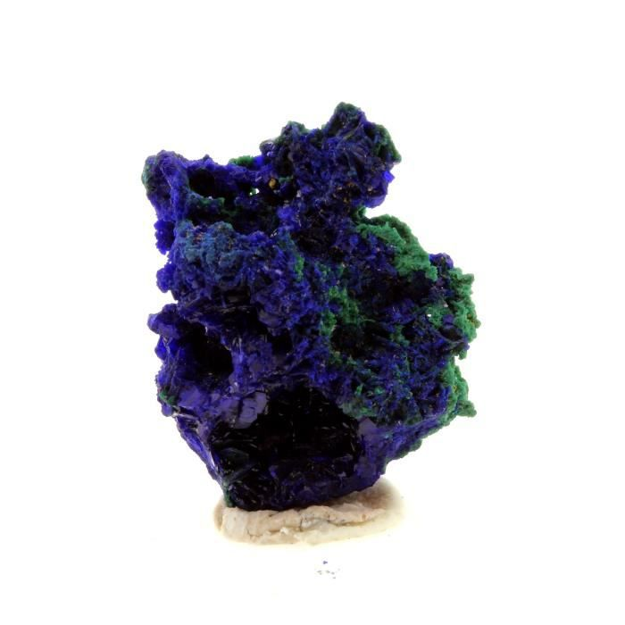 Pierre -Chessylite ( Azurite ). 15.50 ct. Chessy-les-Mines, Rhône, France. Rare