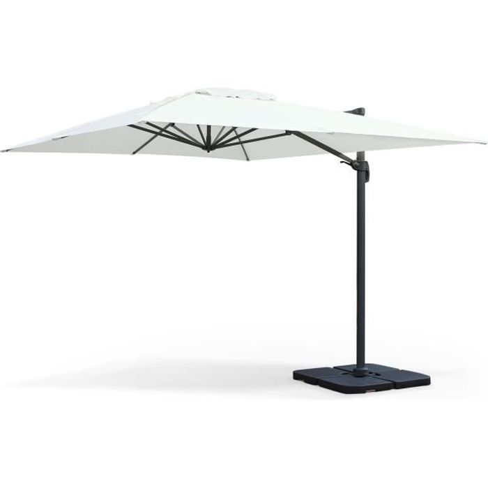 parasol d port 3x4m st jean de luz achat vente. Black Bedroom Furniture Sets. Home Design Ideas