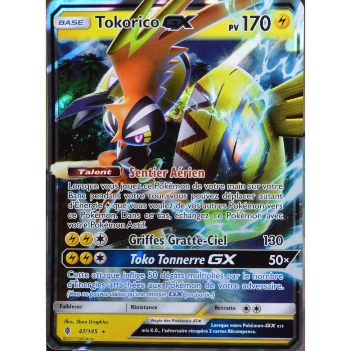 carte pokemon tokorico gx Cartes à l'unité carte Pokémon 47/145 Tokorico GX 170 PV Hobbies