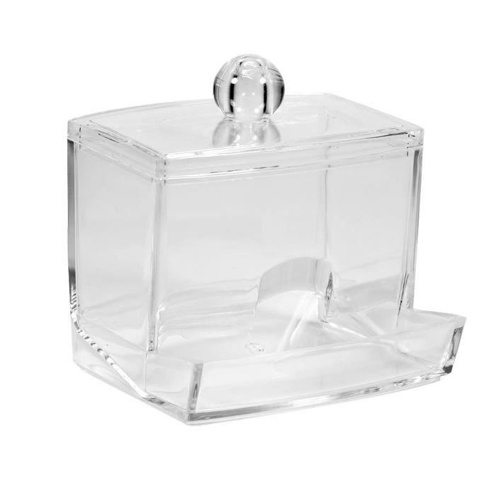 Qualy Ouates bâtonnets-Support Lotus Neuf Noir Blanc Design Box de rangement salle de bain