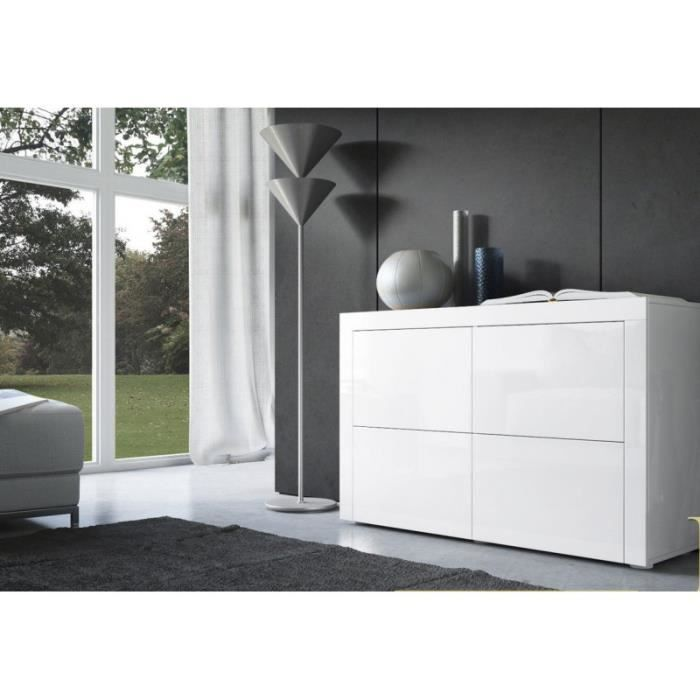 commode design laqu e blanche achat vente commode semainier commode design laqu e blanche. Black Bedroom Furniture Sets. Home Design Ideas