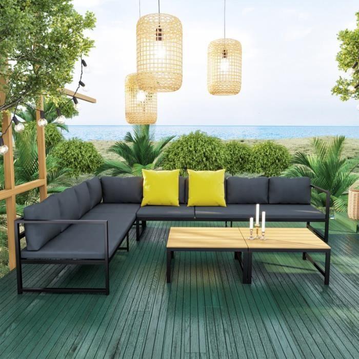 Salon Modulable Relevable De Jardin En Aluminium Design