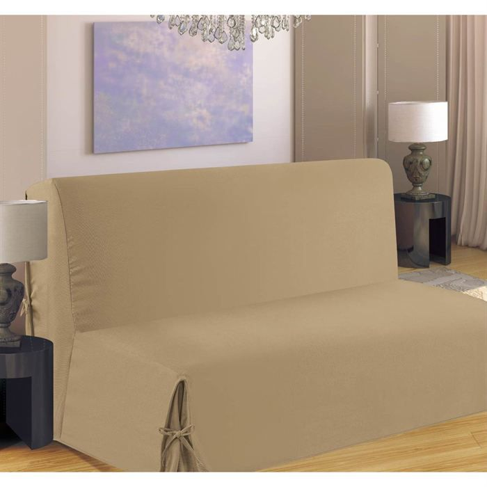 housse de clic clac nouettes beige achat vente housse de canape cdiscount. Black Bedroom Furniture Sets. Home Design Ideas
