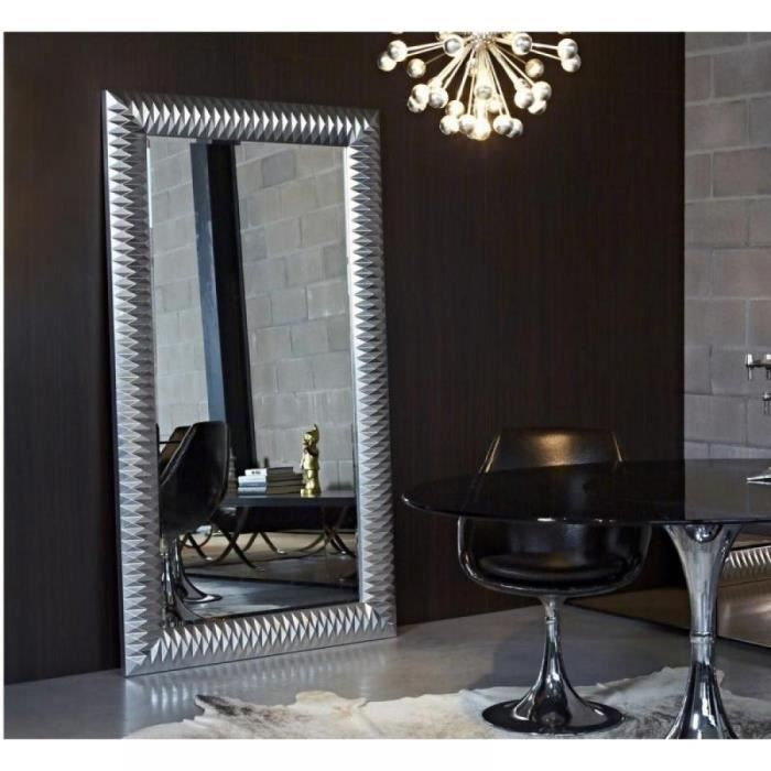 Hall grand miroir mural finition argent achat vente - Grand miroir original ...
