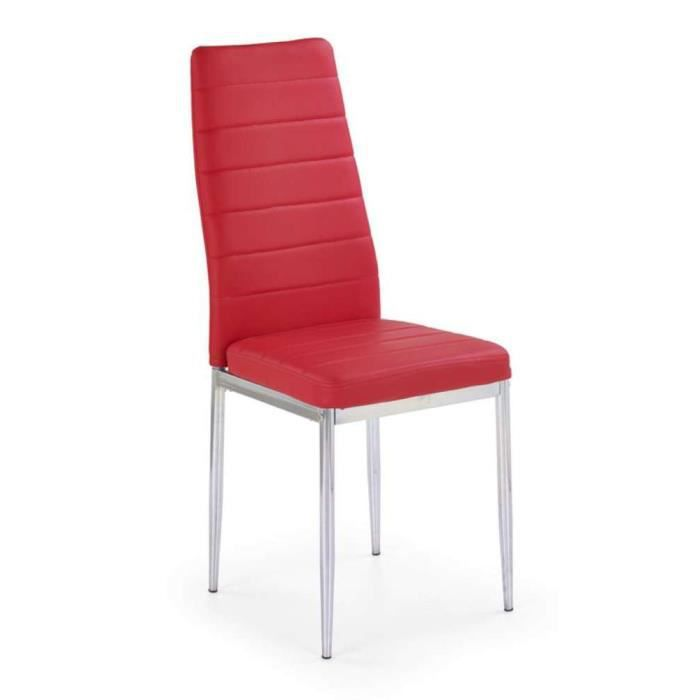 Justhome chaise salle manger k70c rouge h x l x p - Chaise salle a manger rouge ...