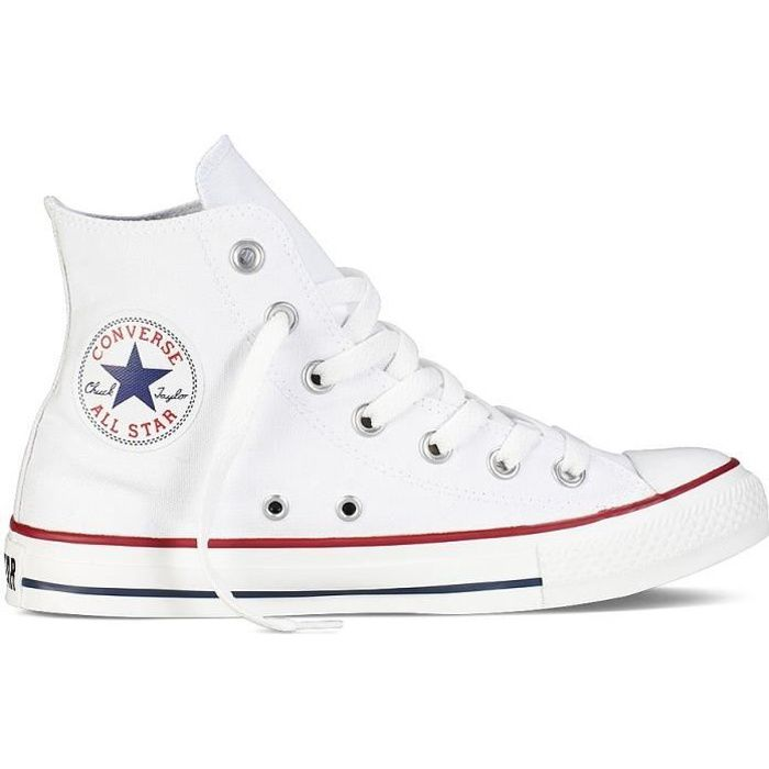 CONVERSE Basket Mixte All Star - Textile - Sport - Blanc ...