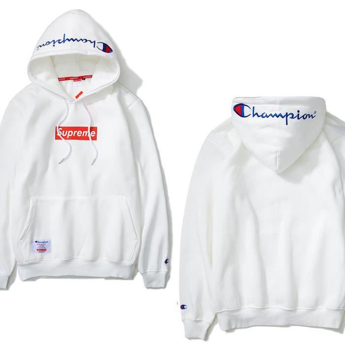 champion homme sweat capuche blanc homme sweatshirts champion champion sweat a capuche bleu hz1mdjw. Black Bedroom Furniture Sets. Home Design Ideas