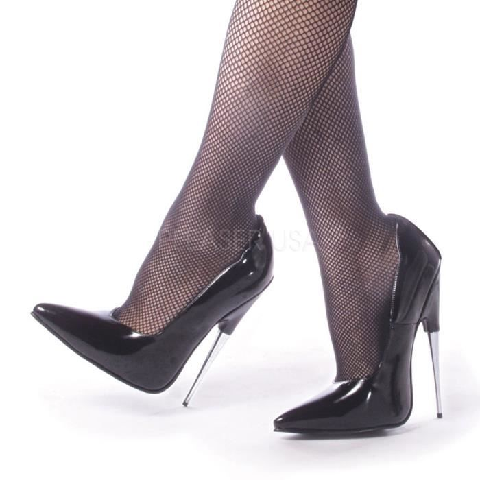 Devious SCREAM-01 6 Inch Spike Stell Heel Blk Pump