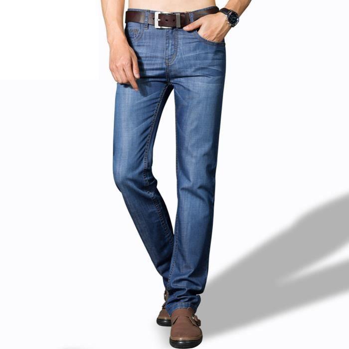 Jean Droit Homme Pantalon en Jeans Homme