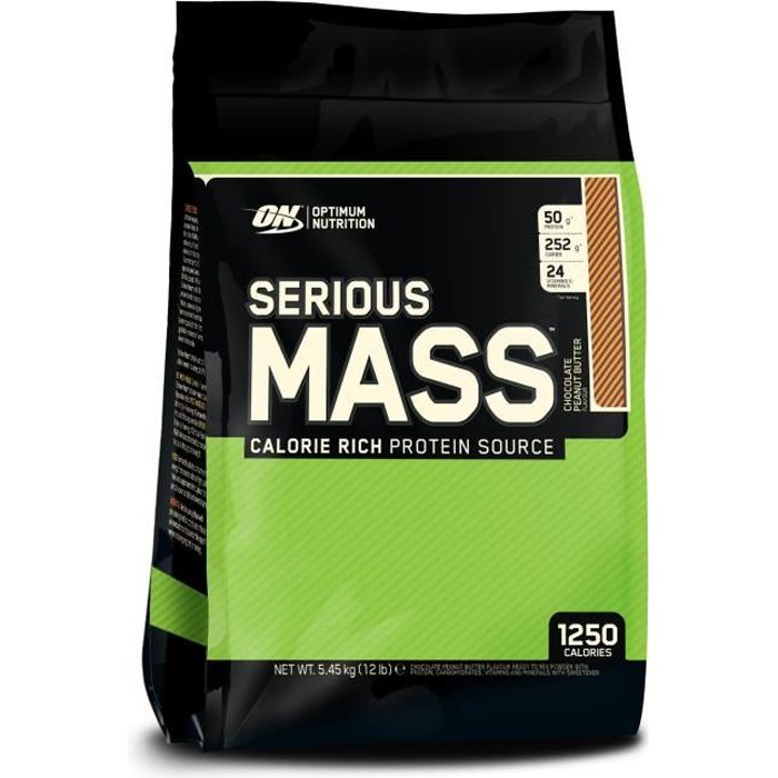 GAINER - PRISE DE MASSE OPTIMUM NUTRITION Pot Serious Mass Chocolat Beurre