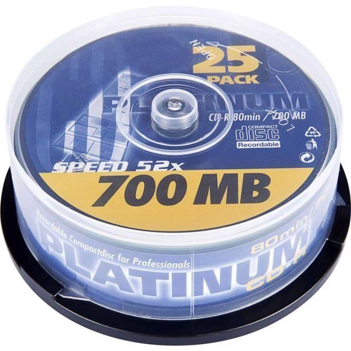 Audio//donn/ées CD enregistrable 52 x 80 Min 700 Mo Maxell Lot de 100 disques CDR Vierges