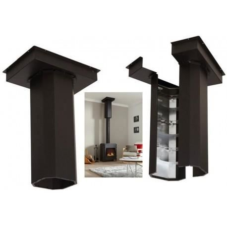 syst me de r cup ration de chaleur po le bois achat. Black Bedroom Furniture Sets. Home Design Ideas