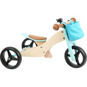 DRAISIENNE Draisienne-Tricycle vélo 2 en 1 bleu Turquoise jou