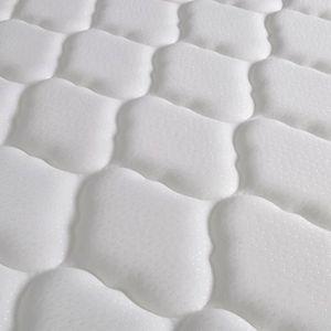 STRUCTURE DE LIT Lit métallique et matelas 180x200 cm Blanc Design