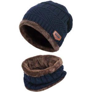 ECHARPE - FOULARD Bonnet d'hiver 2 pièces écharpe ensemble chaud bon