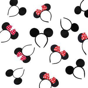 Bascolor 4 Pi/èce Minnie Bandeau Oreilles Souris Bandeau Mignon avec Noeud /à Sequins Bandeau Oreilles danimaux Accessoires pour Cheveux pour Enfants Adultes
