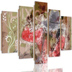 Peinture abstraite Baiser damour Fixuk sur toile pour chambre /à coucher 100*60cm 1 couleur d/écoration salle /à manger