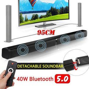 BARRE DE SON 40W Barre de son Bluetooth 5.0 Sans Fil Détachable