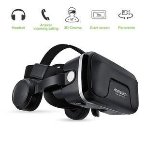 CASQUE RÉALITÉ VIRTUELLE HAMSWAN Casque VR, Lunettes 3D Réalité Virtuelle a