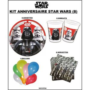 decoration anniversaire star wars achat vente. Black Bedroom Furniture Sets. Home Design Ideas