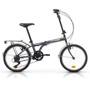 """VÉLO PLIANT Vélo Pliable Aluminium Racer ULTIMATE 20"""" Gris  Sh"""
