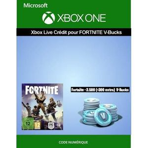 EXTENSION - CODE Crédit XBOX ONE pour Fortnite - 2.500 V-Bucks + 30