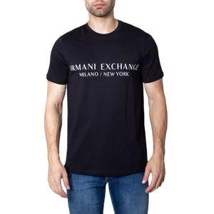 T-SHIRT ARMANI EXCHANGE HOMME 8NZT72ZJH4Z1200 NOIR COTON T